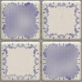 Blue bathroom tile. Illustration of blue bathroom tile with different patterns Stock Images