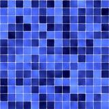 Blue bathroom tiles Stock Image