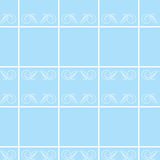 Blue bathroom tiles Royalty Free Stock Photography
