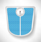 Blue bathroom weight scale Stock Images