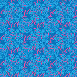 Blue Batik Ornament Royalty Free Stock Image