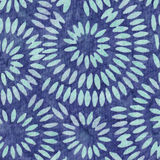 Blue Batik Pattern Royalty Free Stock Photography