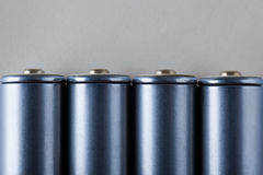 Blue Batteries Stock Image