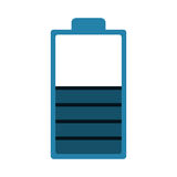 Blue battery icon Stock Image