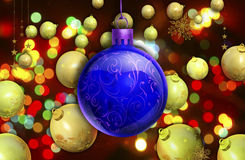 Blue bauble Royalty Free Stock Photography