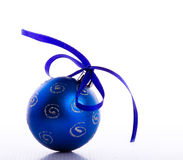 Blue bauble Royalty Free Stock Photo