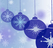 Blue bauble background. Christmas card design or beautiful background stock illustration