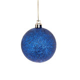 Blue bauble Stock Photo