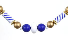 Blue bauble necklace Royalty Free Stock Image