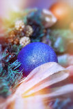 Blue bauble - xmas ball Stock Images