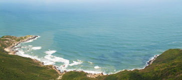 BLUE BAY. The panorama of Tongguling bay in South china Royalty Free Stock Image