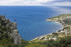 Blue bay, Crimea, Ukraine Royalty Free Stock Photos