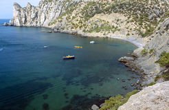 Blue Bay (Kings Beach) in the New World. Crimea. Royalty Free Stock Photography