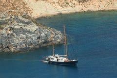 Blue bay of Lindos, Rhodes. Stock Photos