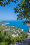 Blue bay near Simeiz town in Crimea Royalty Free Stock Images