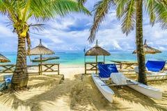 Blue Bay, public beach at Mauritius island, Africa. Amazing Blue Bay, public beach at Mauritius island, Africa stock photo