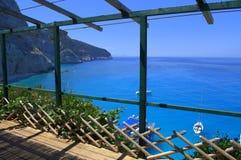 Blue bay viewpoint,Lefkada Greece Royalty Free Stock Photos