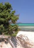 Blue Beach. Mediterranean beach Stock Photos