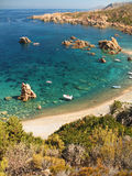 Blue beach. A wonderful beach in Sardinia (Italy) during summer time Royalty Free Stock Images