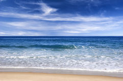 Blue beach Royalty Free Stock Images