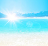 Blue beach background stock photography