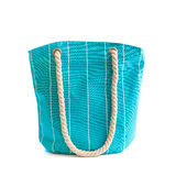 Blue beach bag Royalty Free Stock Images