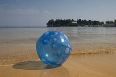 Blue beach ball Royalty Free Stock Photo