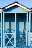Blue beach cabin Stock Photos