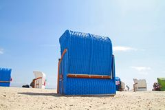 Blue_beach_chair Fotografia de Stock Royalty Free