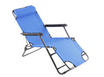 The blue beach chair Stock Photography