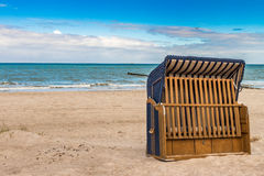 Blue Beach Chair Stock Images