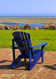 Blue Beach Chair Summer Scene Royalty Free Stock Photos
