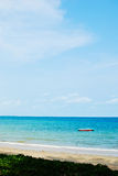 Blue beach with clear sky Royalty Free Stock Photo