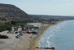 Blue beach Episkopi Cyprus. Intimate place for relaxing in mediteranian sea Stock Photo