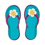 blue beach flip flops, graphic Stock Images