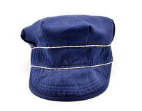 Blue beach hat Stock Photography