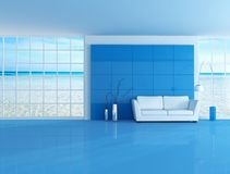 Blue beach house Royalty Free Stock Photos
