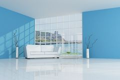 Blue beach house Stock Image