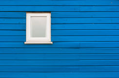 Blue Beach house Wall and Window. Royalty Free Stock Photography