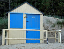 Blue beach hut Royalty Free Stock Images