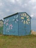 Blue beach hut Royalty Free Stock Photography