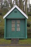 Blue beach hut Stock Photos