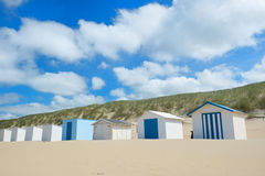 Blue beach huts at Texel Stock Images