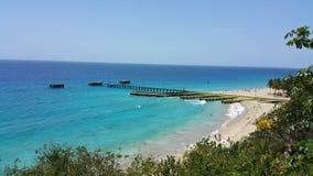 Blue Beach. Sky view Royalty Free Stock Photos