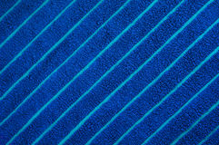 Blue beach towel texture Stock Image
