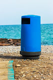 Blue beach trash. Stock Photos