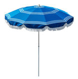 Blue beach umbrella Royalty Free Stock Photography