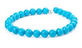 Blue beads Royalty Free Stock Photos
