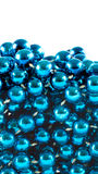 Blue beads Stock Images