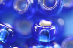 Blue beads Stock Image